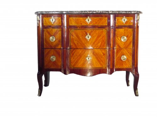 Transition chest of drawers by Birckle, 18th century - Furniture Style Transition