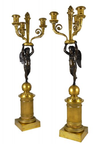Pair of candelabra of the Empire period, ca. 1815