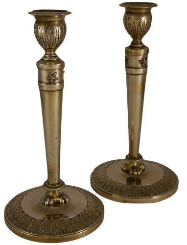 Pair of Empire candlesticks by Claude Galle