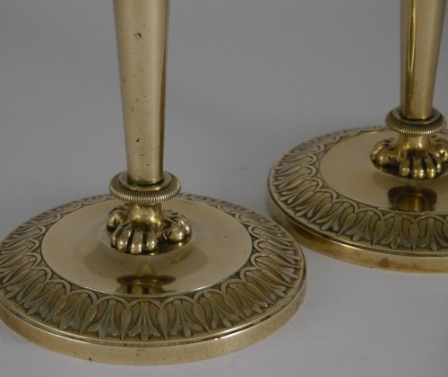 Lighting  - Pair of Empire candlesticks by Claude Galle
