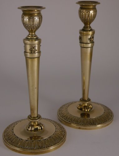 Pair of Empire candlesticks by Claude Galle -