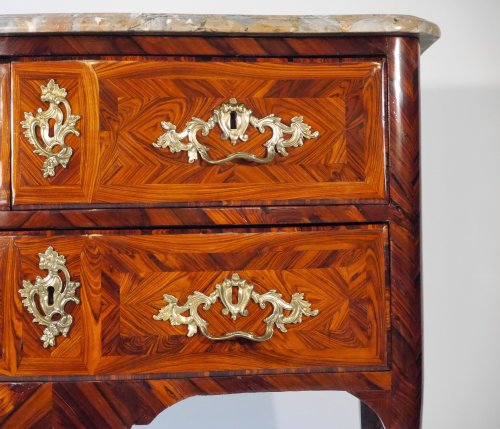 Furniture  - A Régence chest of drawers stamped by Marchand
