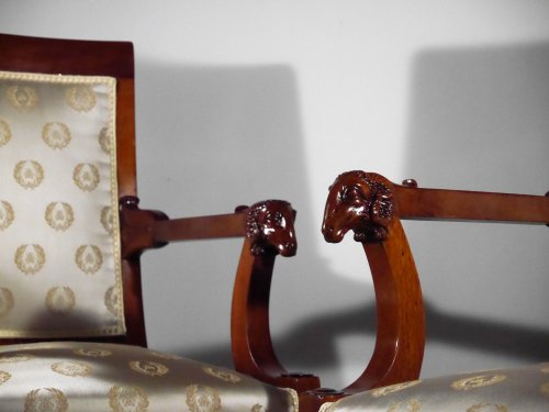 Seating  - Pair of armchairs attributed to Jacob brothers, Consulate period