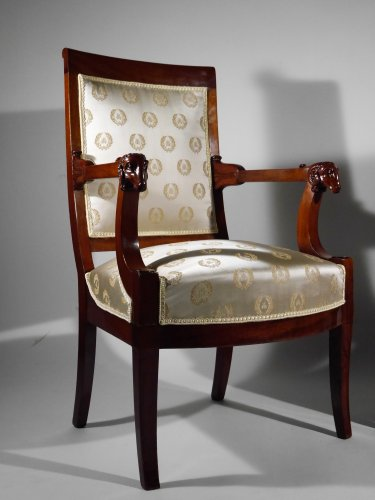 19th century - Pair of armchairs attributed to Jacob brothers, Consulate period