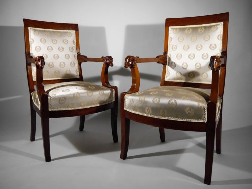 Pair of armchairs attributed to Jacob brothers, Consulate period - Empire