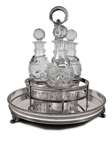 Liqueurs bar in silver by Louis Legay