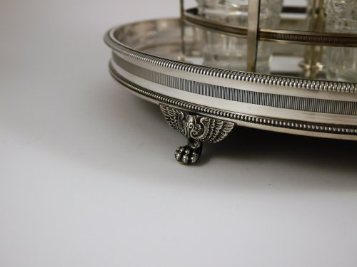 Liqueurs bar in silver by Louis Legay - Antique Silver Style Restauration - Charles X