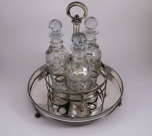Antique Silver  - Liqueurs bar in silver by Louis Legay