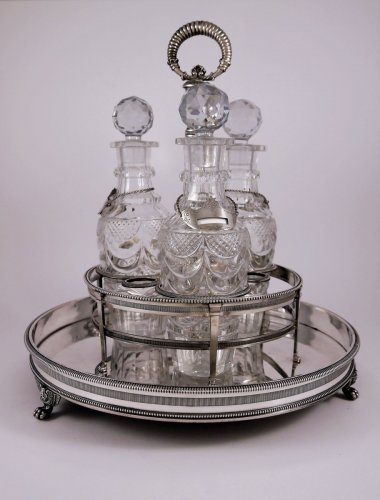 Liqueurs bar in silver by Louis Legay - Restauration - Charles X