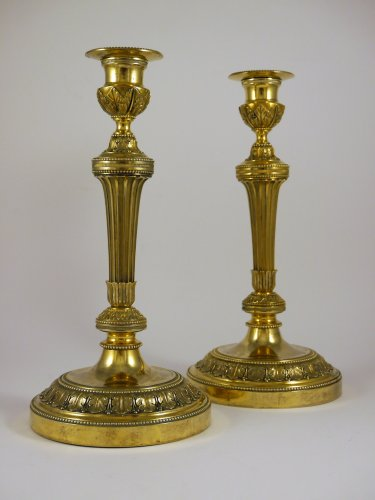 A pair of candlesticks by Claude Galle - Lighting Style Louis XVI