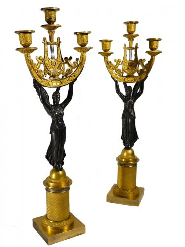 Pair of candelabra of the Empire period