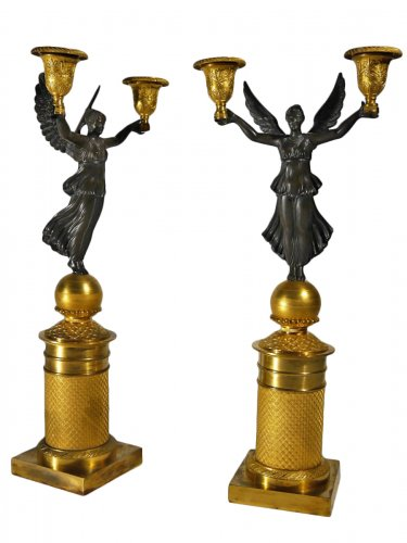 Pair of candelabra, Empire period