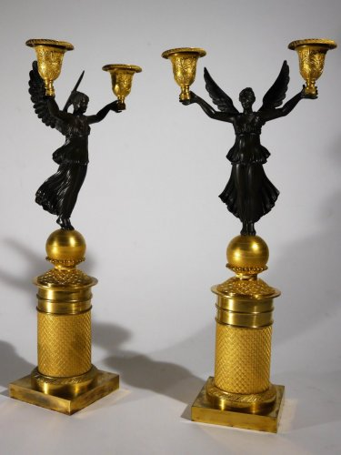Empire - Pair of candelabra, Empire period