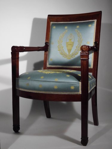 Pair of armchairs of the Empire period by Boulard - Seating Style Empire
