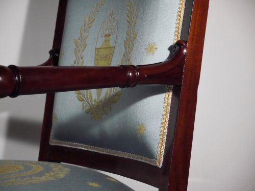 Pair of armchairs of the Empire period by Boulard -