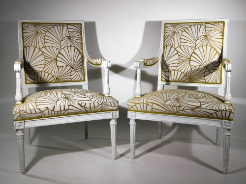 A pair of armchairs by Georges Jacob - Seating Style Louis XVI