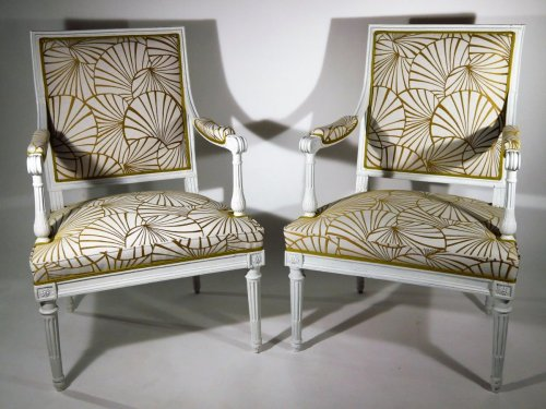 Louis XVI - A pair of armchairs by Georges Jacob