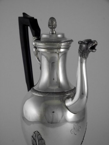 Empire Coffeemaker by Jean-Pierre Charpenat - Antique Silver Style Empire