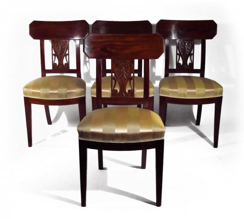Set of 4 chairs by Georges Jacob, 18th century