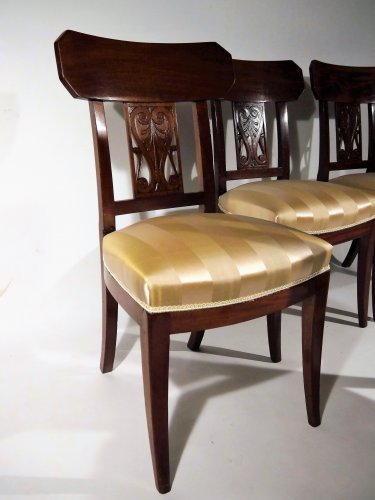 Seating  - Set of 4 chairs by Georges Jacob, 18th century