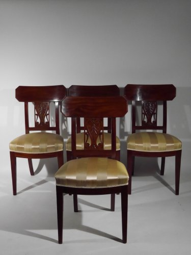 Set of 4 chairs by Georges Jacob, 18th century -