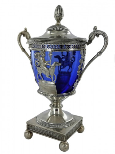 Silver sugar bowl by D. Garreau