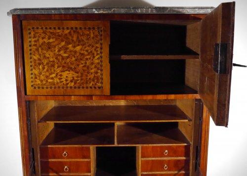 Furniture  - Louis XVI writing desk, in end grain wood