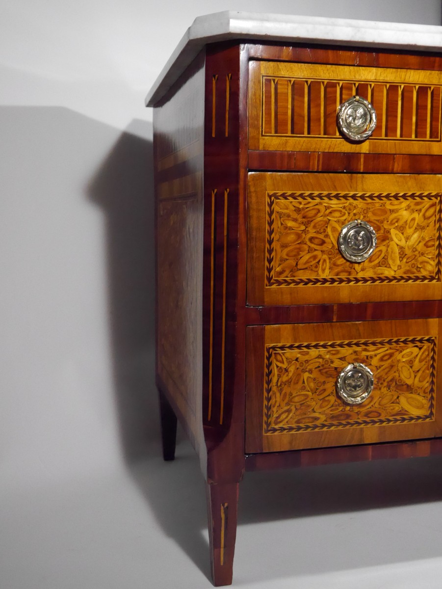 Louis Xvi Chest Of Drawers In End Grain Wood 18th Century Ref 66037