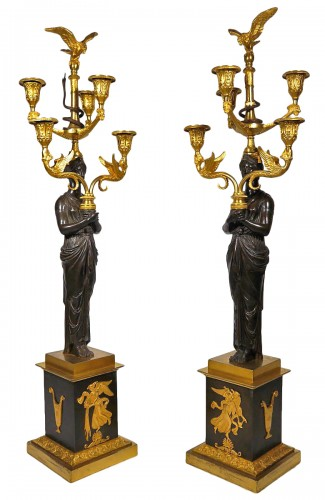 Important pair of candelabra by Thomire