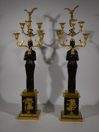 Important pair of candelabra by Thomire - Lighting Style Empire