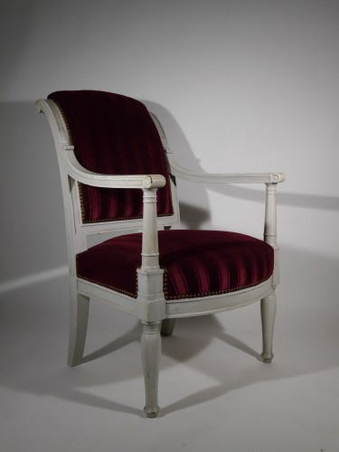 Empire armchair stamped Jacob D rue Meslée, 19th century -