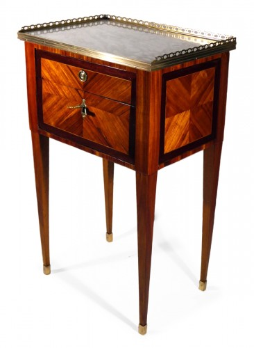 A Louis XVI working table or bedside table, stamped F Schey, 18th century