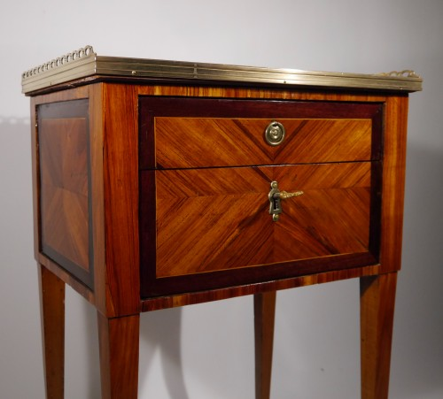 A Louis XVI working table or bedside table, stamped F Schey, 18th century -