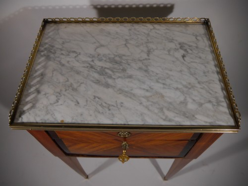 A Louis XVI working table or bedside table, stamped F Schey, 18th century - Louis XVI