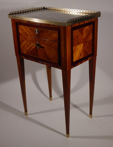 Louis XVI - A Louis XVI working table or bedside table, stamped F Schey, 18th century
