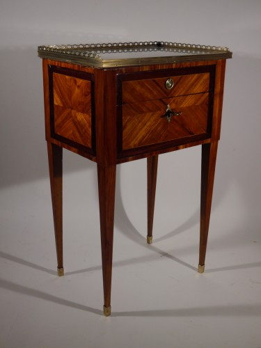Antiquités - A Louis XVI working table or bedside table, stamped F Schey, 18th century