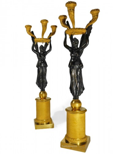 Pair of Empire candelabra by Thomire or Choiselat