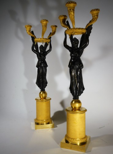 Pair of Empire candelabra by Thomire or Choiselat -