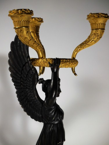 Pair of Empire candelabra by Thomire or Choiselat - Empire