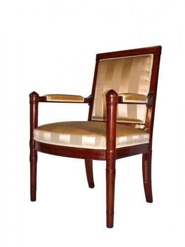 An Empire armchair stamped Jacob D rue Meslée