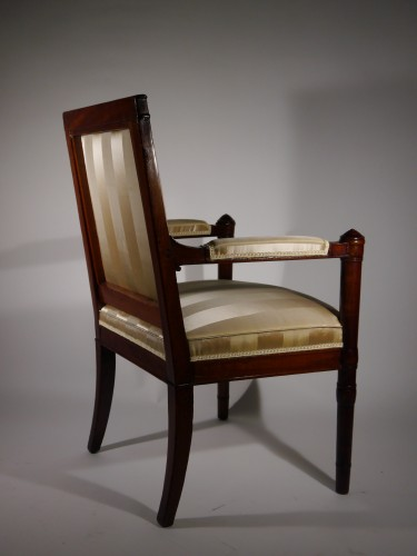 An Empire armchair stamped Jacob D rue Meslée - Seating Style Empire