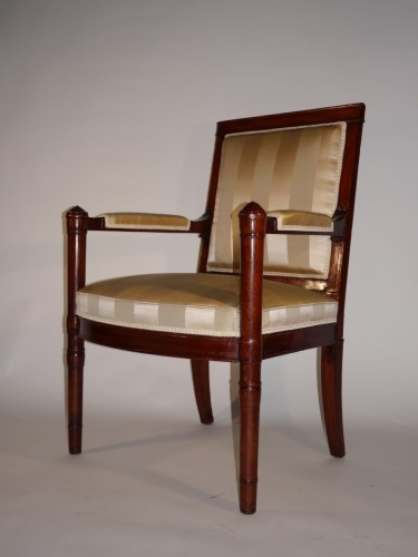 An Empire armchair stamped Jacob D rue Meslée -