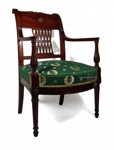 Directoire Armchair In Mahogany, Attributed To Georges Jacob