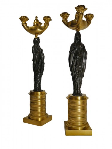 Pair of Empire candelabra, beginning of the 19th century