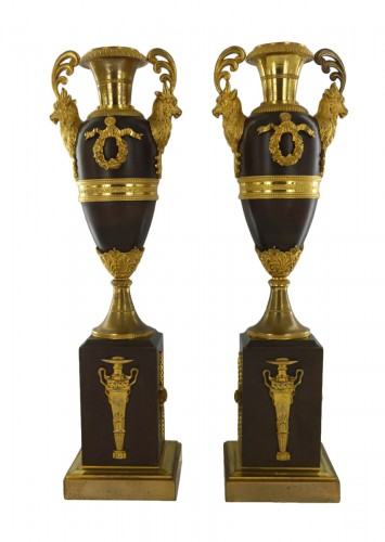 Pair of Louis XVI - Directoire cassolettes, 18th century