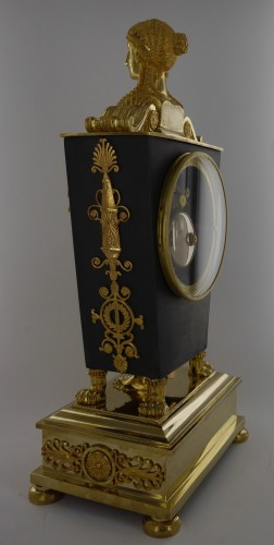 """Etruscan"" clock, Empire period - Clocks Style Empire"