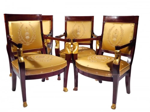Franch Empire Mahogany Salon set, beginning of the 19th century