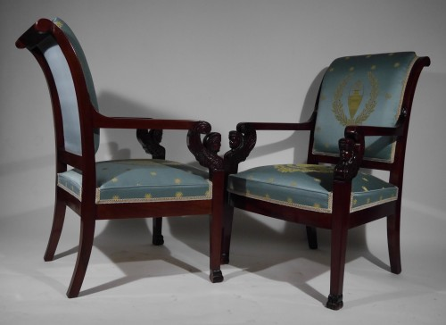 Seating  - Pair of Empire armchairs, beginning of the 19th century