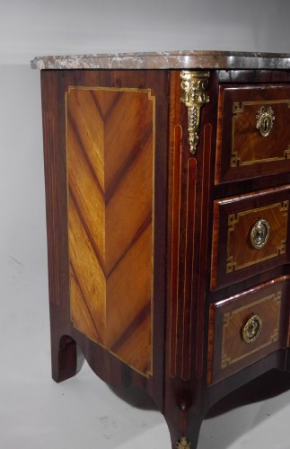 Furniture  - A Transition chest of drawers stamped by J. Stumpff