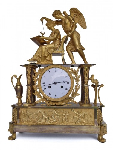 Big Empire mantel clock, beginning of the 19th century